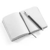 a journaling book and pen